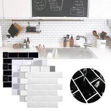 3D 30,5 см стена наклейки плитка кирпич мозаика обои наклейка самоклеющаяся клей кухня ванная комната декор кухня фартук обои