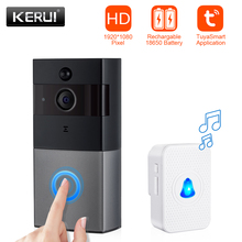 KERUI WIFI Intercom Doorbell HD1080P Tuya App Home Security Camera Door