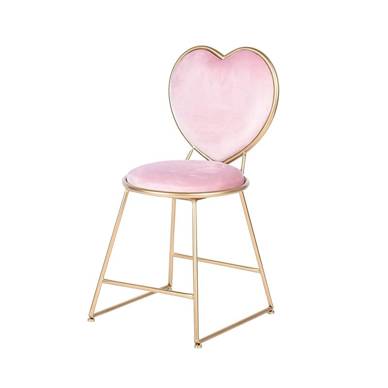 Modern Colorful Velvet Seat Golden Backrest Girl/'s Room Dressing Table Chairs