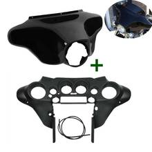 Motorcycle ABS Front Batwing Outer Inner Fairing For Harley Touring Street Electra Glide Road Glide FLTRX 1996-2013 2014-2019 motorcycle accessories front inner accent fairing buffer cushion pad harley electra street glide ultra custom