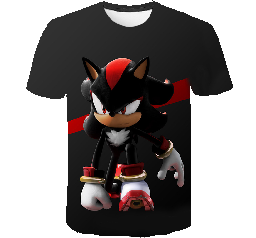 Sonic The Hedgehog 3D Baby Boys T-shirts Summer Cute Girls Mario Funny Children Boys Clothing Kids Clothes Tshirts Streetwear