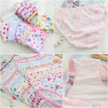 12Pc/Lot Fashion Baby Girls Underwear Cotton Panties Kids Short Briefs Children Underpants 2-12years - discount item  18% OFF Children's Clothing
