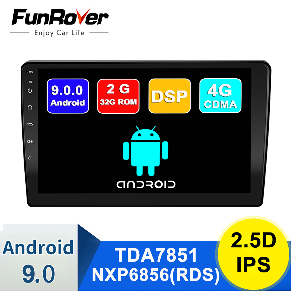 FUNROVER 2.5D IPS 2G+32G Android 9.0 Car Radio Multimedia Player For LADA BA3 Granta Sport 2011-2018 Navigation GPS 2din no dvd image