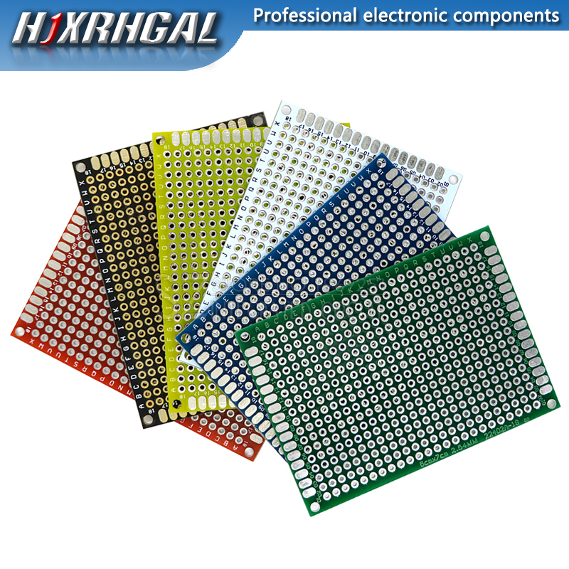 5pcs/lot PCB Double-Sided Protoboard Breadboard Universal Board 5*7mm 5x7mm Red White Blue Green Black Yellow