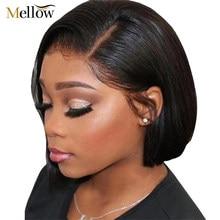 Bob corto peluca con malla frontal recto brasileño pelucas de cabello humano Rubio color peluca con malla frontal para las mujeres negras 99J 613 1B/613 Bob peluca