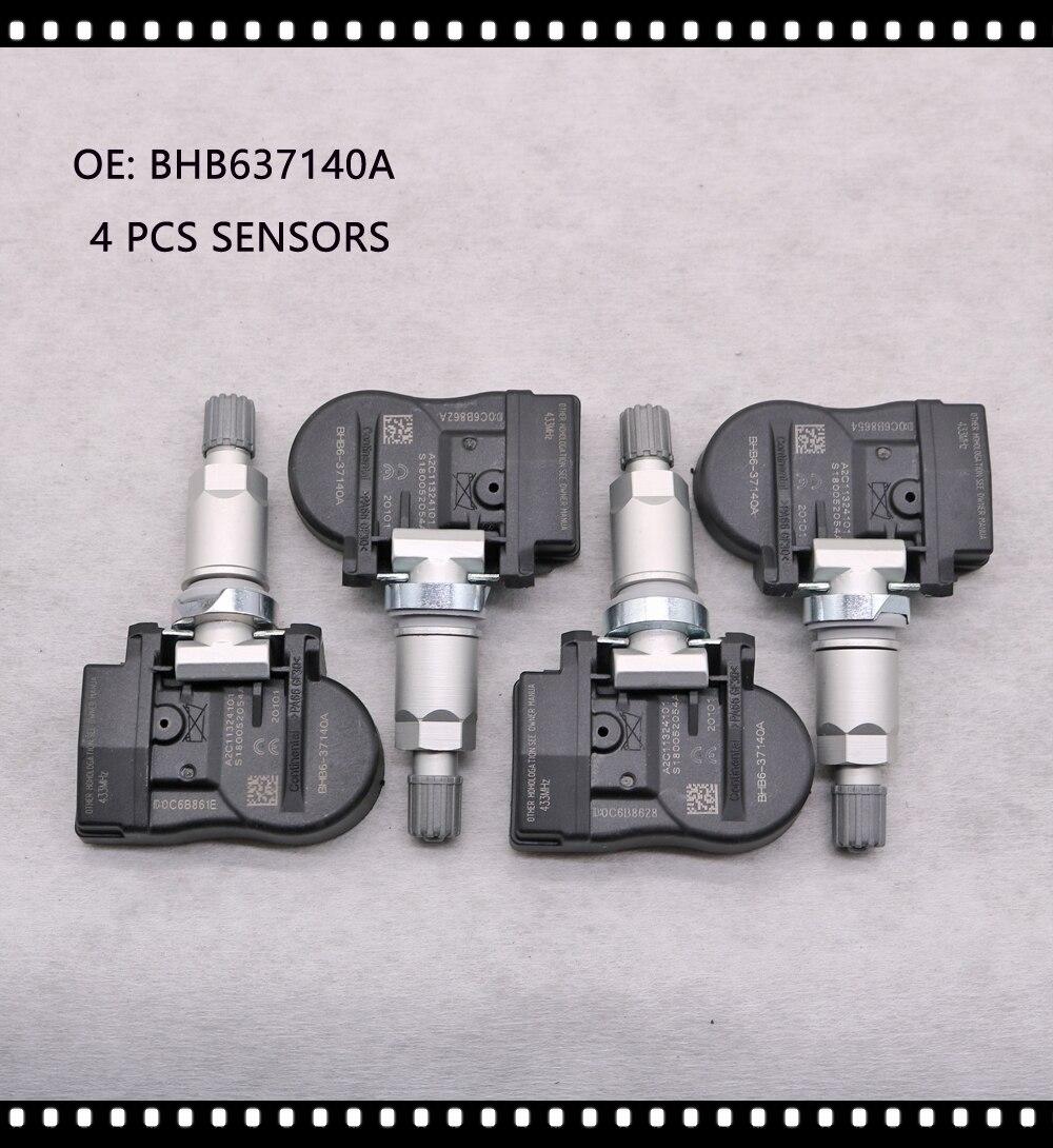 4 PCS TPMS FOR Mazda 2 3 5 6 CX-5 CX-6 CX-9 MX-5 Artz 433MHz BHB637140A TPMS SENSOR TIRE AIR PRESSURE SENSOR BHB637140 GS1D37140