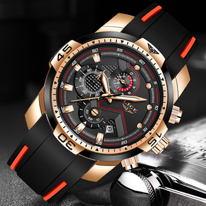 Image 3 - New Relogio Masculino 2019 LIGE Silicone Mens Watches Top Brand Luxury Man Military Quartz Clock Male Sport Waterproof Watch Men