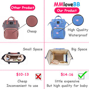 Image 5 - MMloveBB Fashion Maternity Diaper bag For Baby Large Capacity Nappy Bag Travel Mommy Bag For Baby Care Backpack For Mom