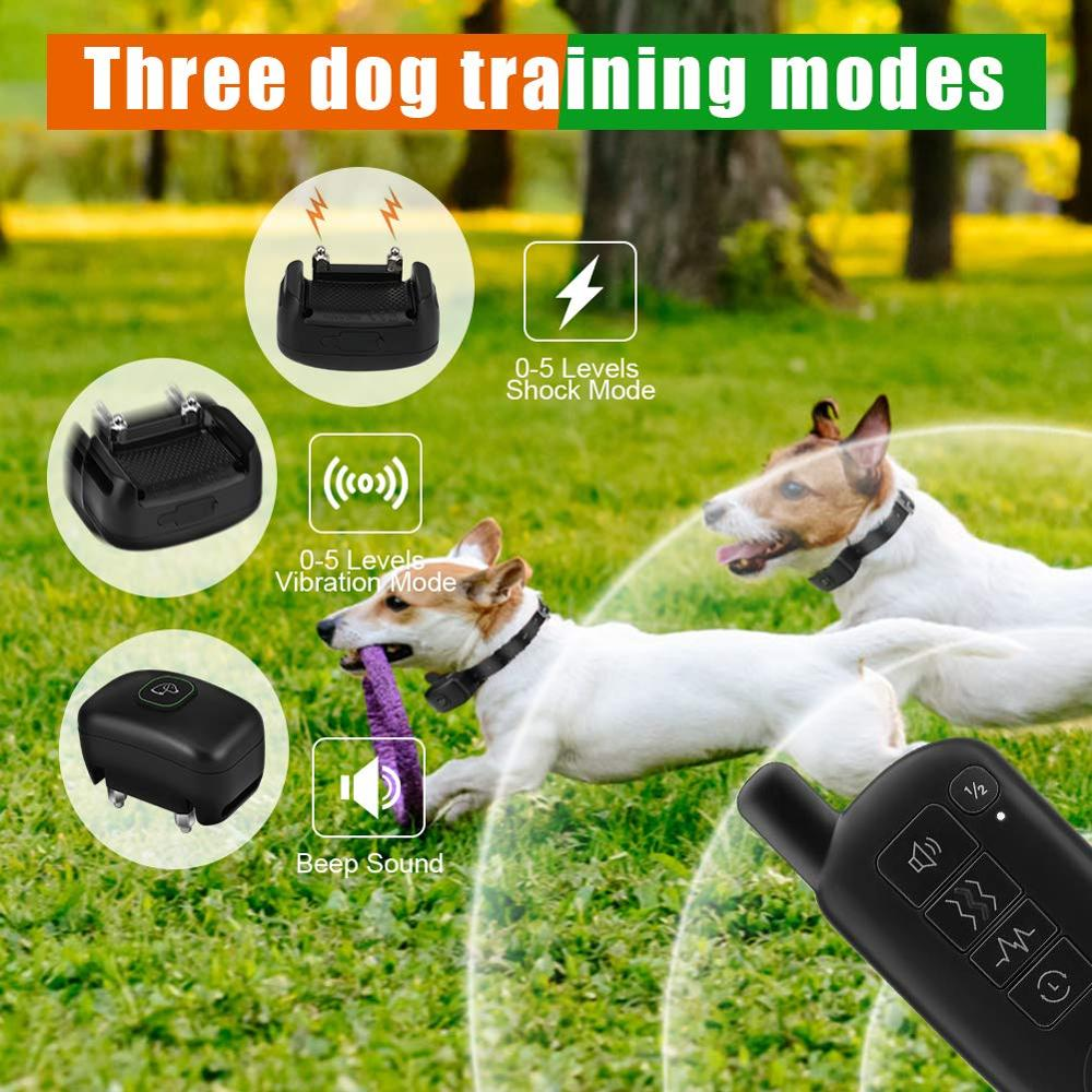 Waterproof Dog Training Collar with 1300ft Extra Wide Remote Range and Rechargeable Battery 4