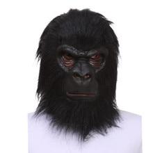 هالوين اللاتكس الأسود الغوريلا قناع الكبار كامل الوجه مضحك الحيوان قناع اللاتكس هالوين تأثيري حلي شحن مجاني