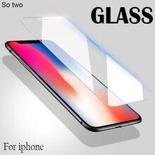 Protecteur décran en verre de Protection HD pour iPhone 11 Pro Max X verre trempé pour iPhone 11 Pro X XS Max XR Protection de Film de verre