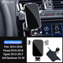 Car Mobile Phone Holder Stand Bracket For Volkswagen VW Polo Passat Tiguan Golf Sportsvan 2013 2014 2016 2018 Car Accessories