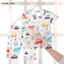Suits Pajamas-Set Sleepwear Sleeping-Clothes Newborn Toddler Girl Summer Boy Cartoon