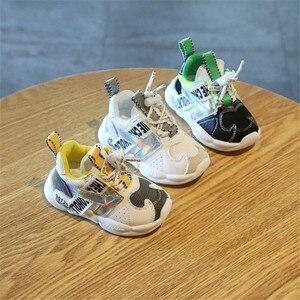 Image 5 - DIMI 2019 Outono Infantil Menina Menino Respirável Sapatos Sneakers Moda de Correspondência de Cores Suaves Criança Inferior Do Bebê Sapatos Caminhantes