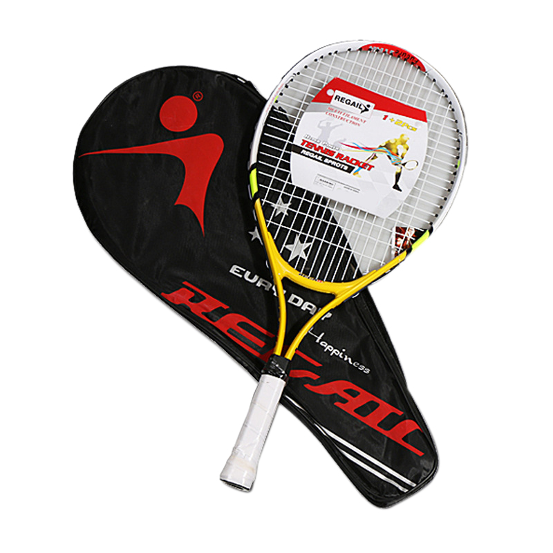 REGAIL 1 Pcs Teenager'S Training Tennis Racket Aluminum Alloy Racquet With Bag For Chidlren Beginners