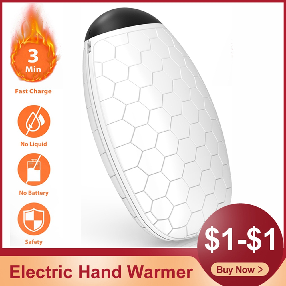 Electric Hand Warmer Heater Mini Portable USB Rechargeable Fast Charging Winter Hand Heater Travel Heating Pad Warming Products