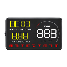A9 Car HUD OBD OBD2 Head Up Display Digital Speedometer Windshield Projector Fatigue Alarm Fuel Speed Gauge цена и фото