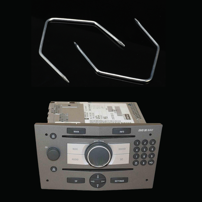 2x автомобиль радио снятие магнитолы выпуск ключи инструменты для извлечения контактов для Vauxhall Opel Corsa C Meriva PC5-110 автотовары