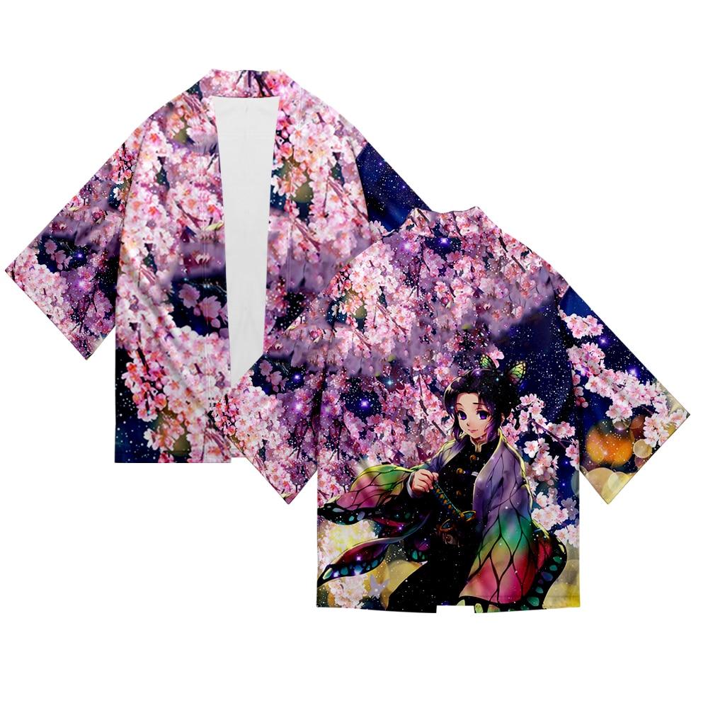 Japanese Kimonos Demon Slayer Kimono Cardigan Shirt Cosplay Women Men Kimono Japanese Yukata Summer Couple Kimono Orient Kimono