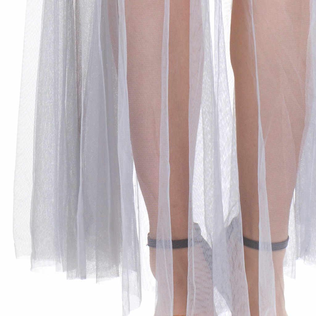 Sexy vestido de malha para a moda feminina cosplay roupas de halloween senhoras sem mangas vestuário agindo festival longo maxi vestido vestidos