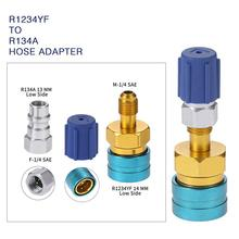 R1234YF to R134a Low Side Quick Coupler Adapters Car Air-conditioning Fitting Tools