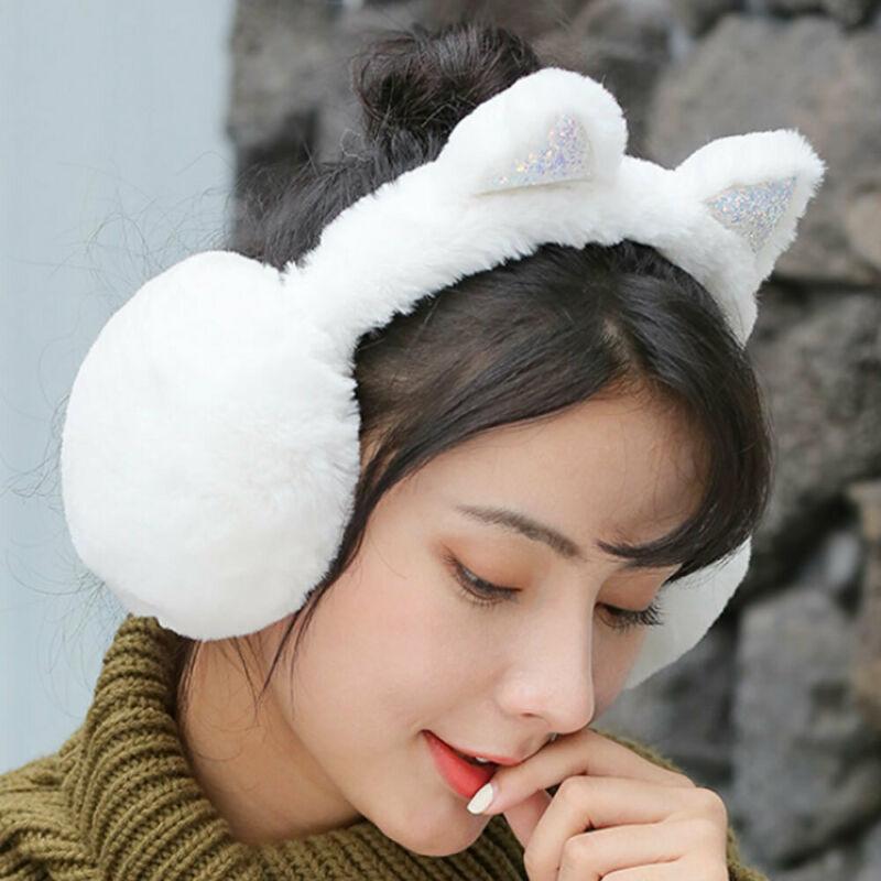 Women Kid Cute Earmuffs Kids Lovely Cat Ear Muff Warmer Ear Muffs Outdoor Activity Keep Warm Windproof Ear Muffs