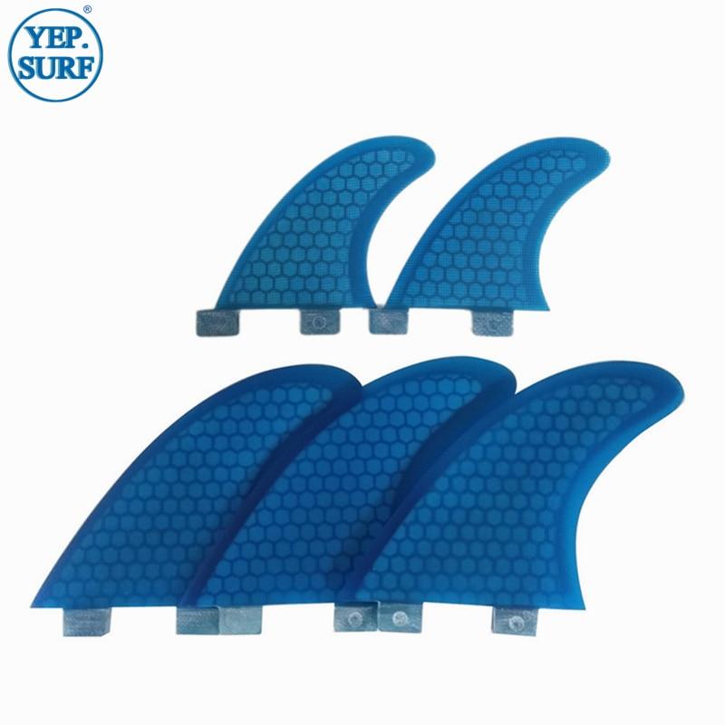 Плавник для серфинга G7 + GL оранжевый/синий трехъядерный плавник 5 шт. в комплекте плавники из стекловолокна серфборд FCS плавник для серфинга ...