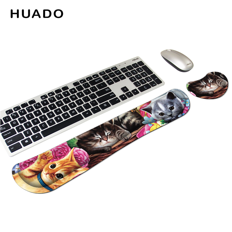 Memory Foam Ergonomics Mouse & Keyboard Wrist Rest Support Pad Cushion For Office Work Support Customized