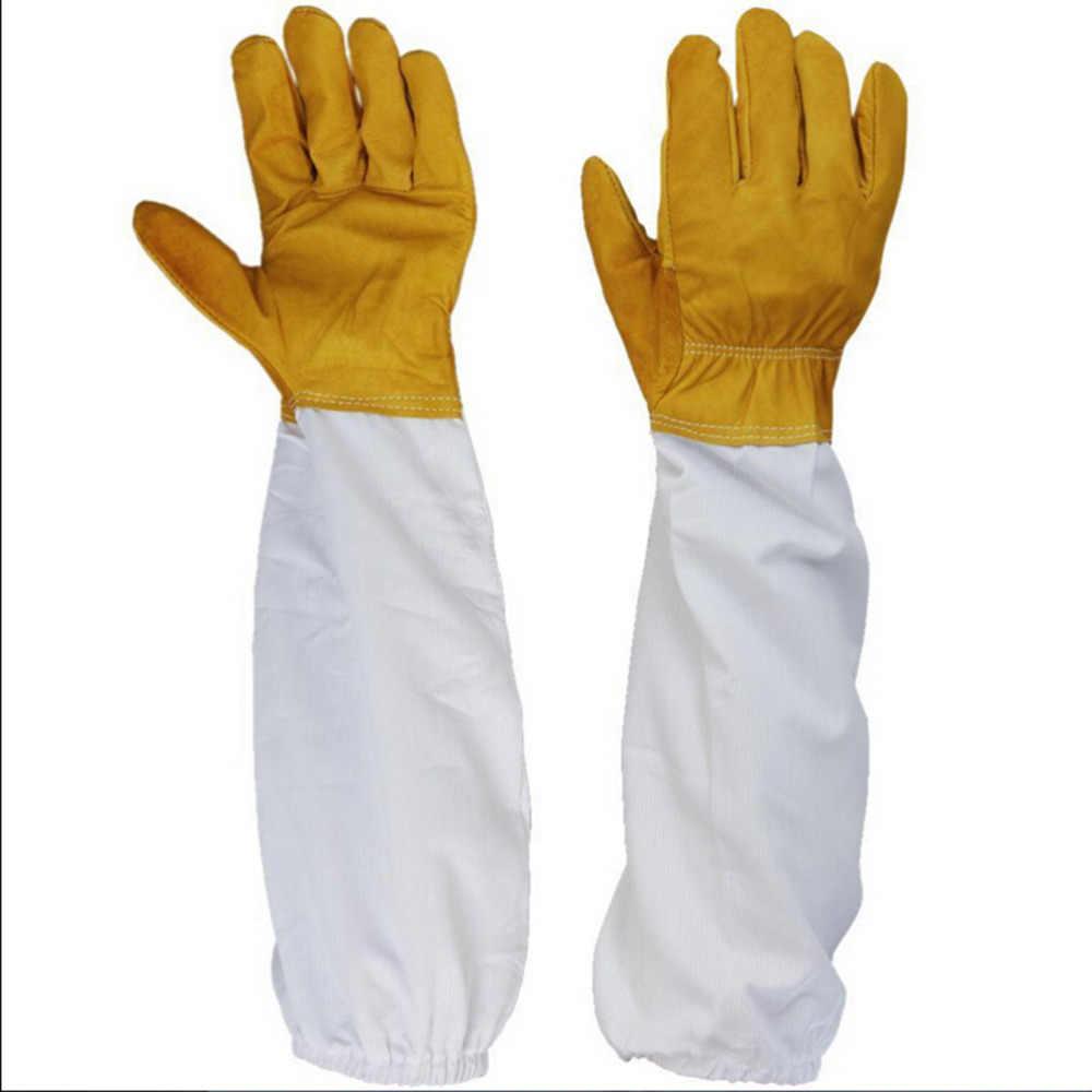Professional Beekeeping Beekeeping Gloves Goatskin with Vented Long Sleeves Tool