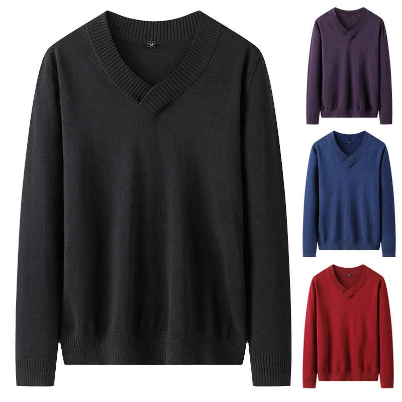 Varsanol Knittwear, мужские свитера, хлопковые пуловеры, v-образный вырез, модный вязаный свитер, Мужская зимняя одежда, 2020, однотонный, полный пуловер, Homme