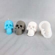 Новый diy ручной работы череп свеча прессформы 11*68*8 см силиконовые