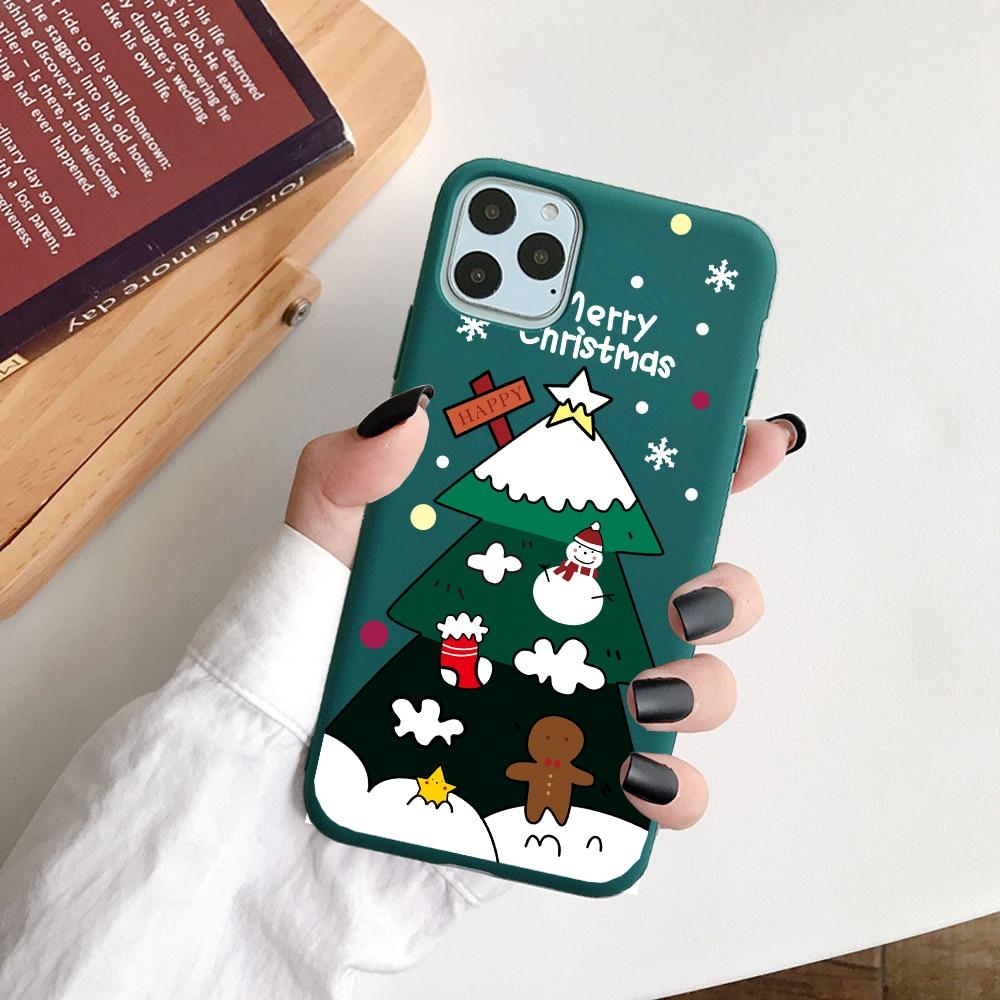 Cute Cartoon Soft TPU Christmas Phone Case For iPhone 12 Mini