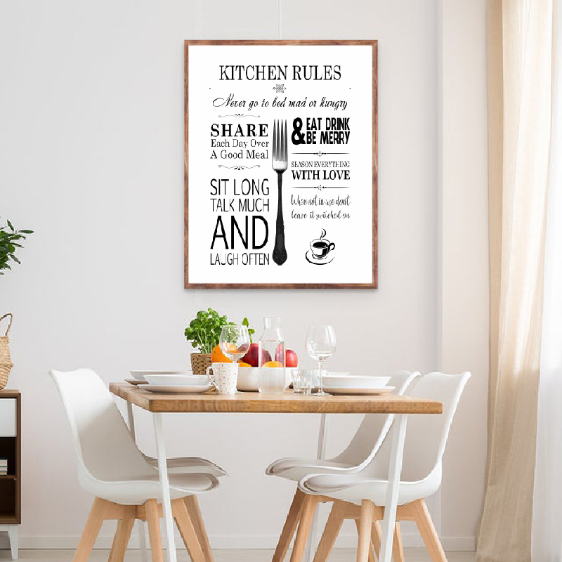 My Kitchen My Rules Picture Gift A4 Kitchen Wall Art inspirational Quotes