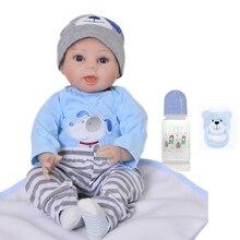 Muñeca Bebe reborn boneca boy silicona reborn baby dolls realista 22 pulgadas vinilo recién nacido bebés l. o regalo de muñecas l para juguetes de niños