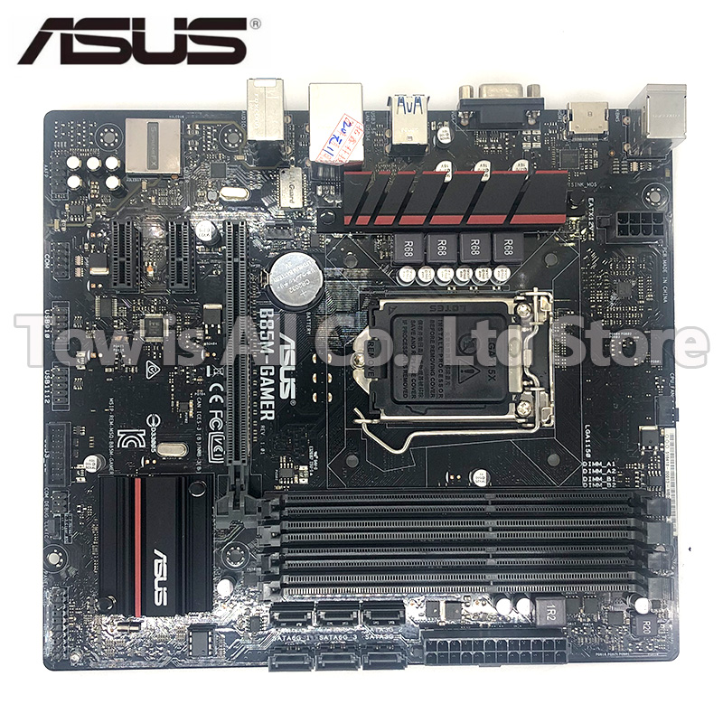 Asus B85M GAMER DDR3 LGA 1150 B85 Desktop Motherboard 32GB USB2.0 USB3.0 for I3 I5 I7 CPU motherboard free shipping|Motherboards| |  - title=
