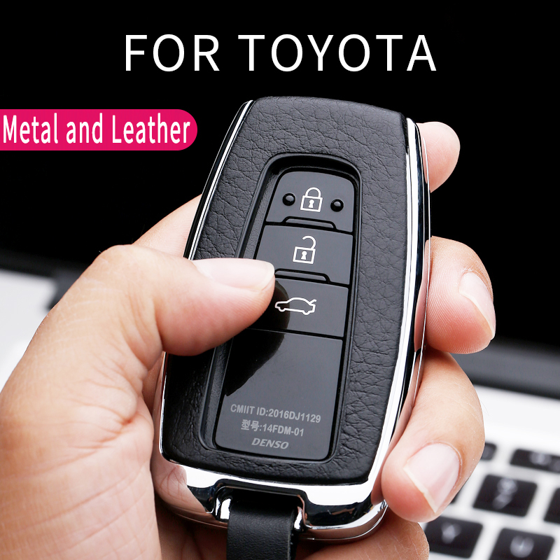 Car Key Cover Car Key Case For Toyota CHR C-HR Prado Camry Avalon Prius Corolla RAV4 Avalon Keychain Key Holder