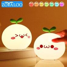 Zoyaloo LED Cartoon Night Light Lamp Soft Silicone 5V 1200 mAh  8 Hours Touch Sensor Working Kids Cute Night Light BP-D-PPD-U
