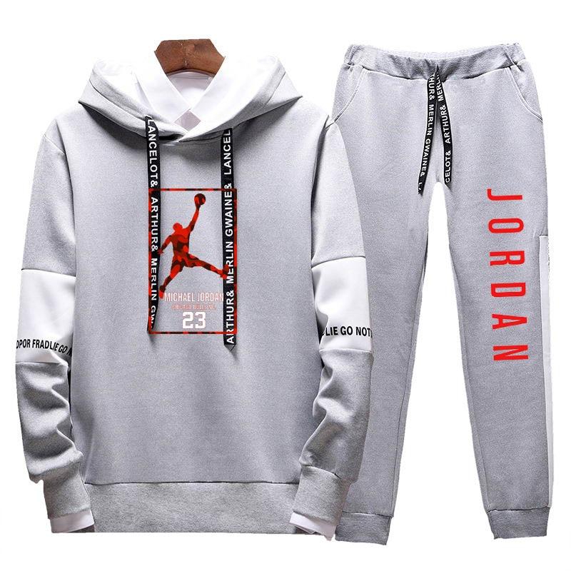 Image 4 - 2019Two Pieces Set Fashion Hooded Sweatshirts Sportswear Men  Tracksuit Hoodie  New Autumn Men Brand Clothes Hoodies Pants SetsMens  Sets