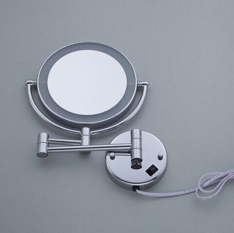 luz montado na parede espelho aumento