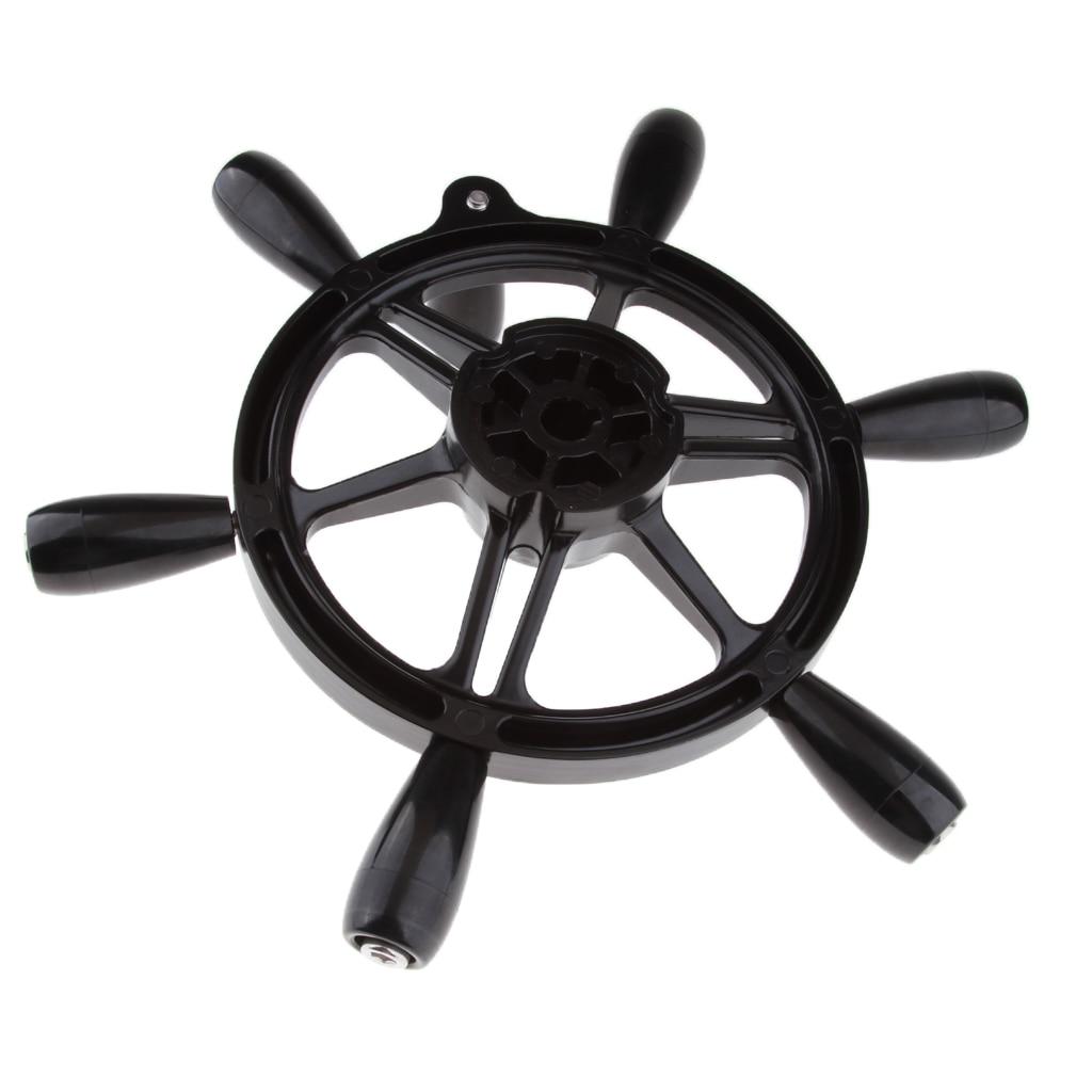 Métal 15 pouces bateau nautique bateau 6 rayons volant 3/4 pouces arbre conique avec bouton tournant-38 cm Dia-résistant aux intempéries