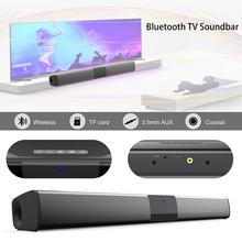 20W Wireless Bluetooth Soundbar Stereo Speakers Home Theater