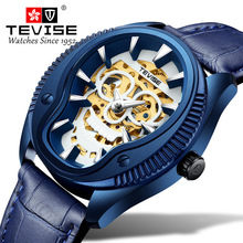 цена на Tevise Unique Skull Dial Design Automatic Mechanical Men Watch Men Fashion Stainless steel Wstwatch Relogio Masculino