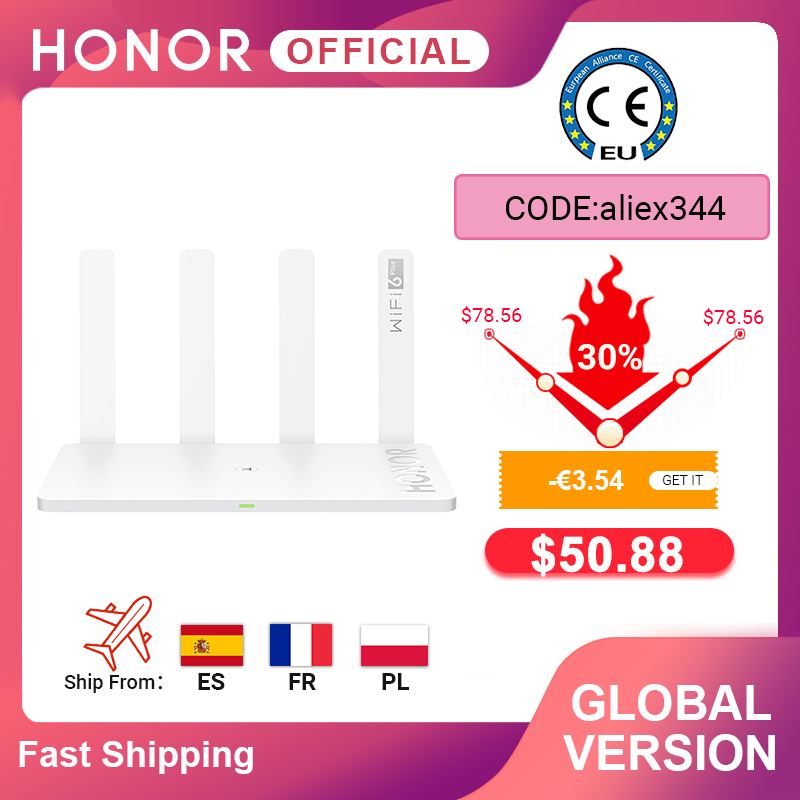 Global Version Original Huawei Honor Router 3 Wifi 6+ 3000Mbps Wireless Router Smart Home Router(China)