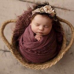 Реквизит для фотосъемки новорожденных, тканая детская кровать для фотосессии