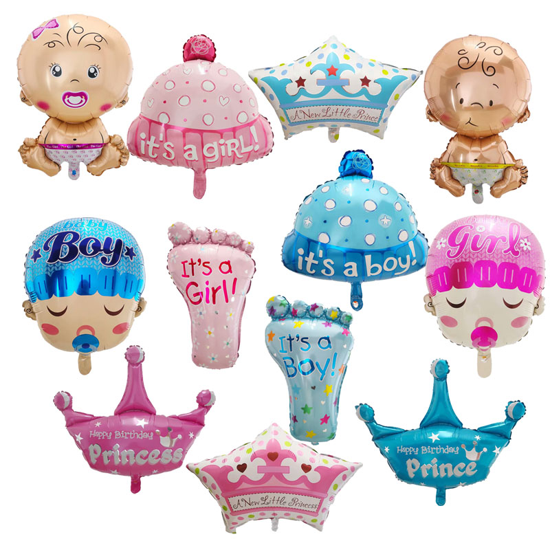 1pc big Baby Boy/<font><b>Girl</b></font> Foil Balloon Baby Shower Balloon Kids toy Baby <font><b>Birthday</b></font> Party <font><b>Decoration</b></font> Baby <font><b>1</b></font> Year <font><b>Birthday</b></font> supplies image