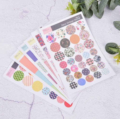 6 sheets/lot vintage floral paper sticker diy scrapbooking diary sticker   kawaii stationery school supplies