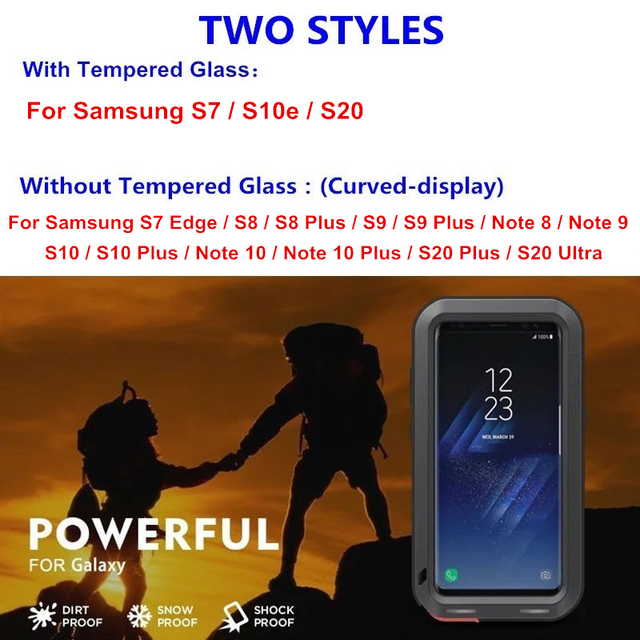 Luxury Armor Metal Full Protection Case for Samsung Galaxy Note 20 10 9 8 S20 S21 Ultra S8 S9 S10 Plus S10e S7 Shockproof Cover 2