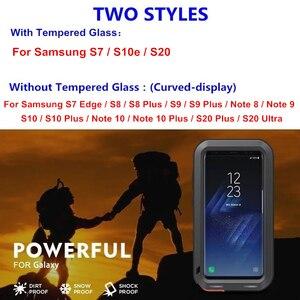 Image 2 - Sang Trọng Giáp Kim Loại Bảo Vệ 360 Ốp Lưng Dành Cho Samsung Galaxy Samsung Galaxy Note 20 Ultra 10 9 8 S20 Cực S8 S9 S10 plus S10e S7 Viền Chống Sốc