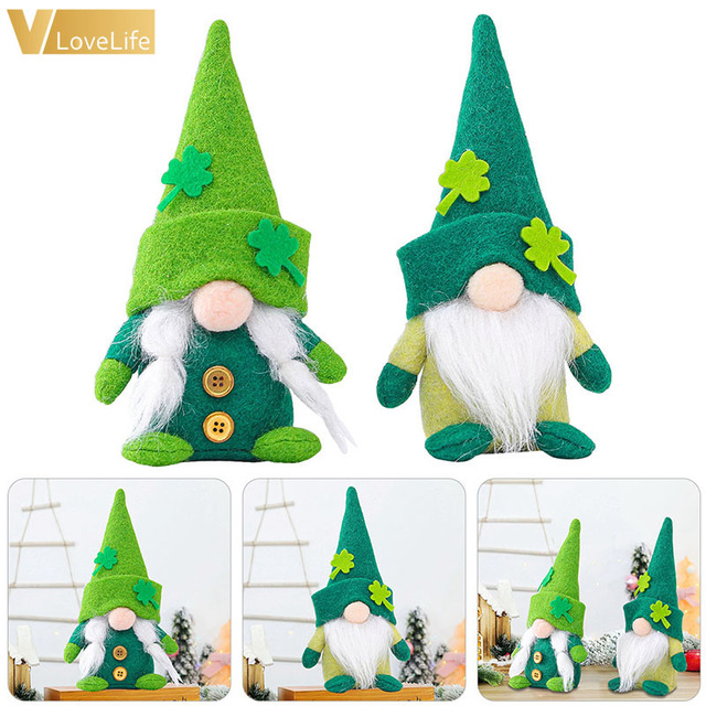 St. Patrick's Day Gnome Plush Doll Faceless Green Clover Gnomes Doll Irish Day Party Decor Saint Patricks Day Gifts For Kids 1
