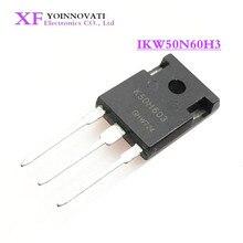 50 adet/grup IKW50N60H3 K50H603 IGBT 600V 100A 333W TO247 3 en iyi kalite.